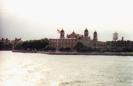 Ellis Island from the water.jpg (31770 bytes)